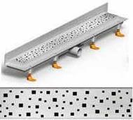 душ канал фланець вертикальний МСН 850 мм + реш. квадрат
