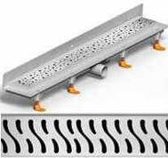душ канал фланець вертикальний МСН 750 мм + реш. гармонія