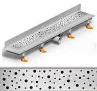душ канал фланець вертикальний МСН 750 мм + реш. каплі