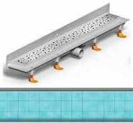 душ канал фланець вертикальний МСН 750 мм + реш. під плитку